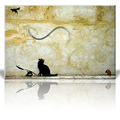 Banksy Cat Chasing Flying Mouse 32