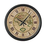 Cheap CafePress – Vintage Map – Large 17″ Round Wall Clock, Unique Decorative Clock