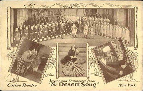 (Scenes from The Desert Song - Casino Theatre, New York Original Vintage)