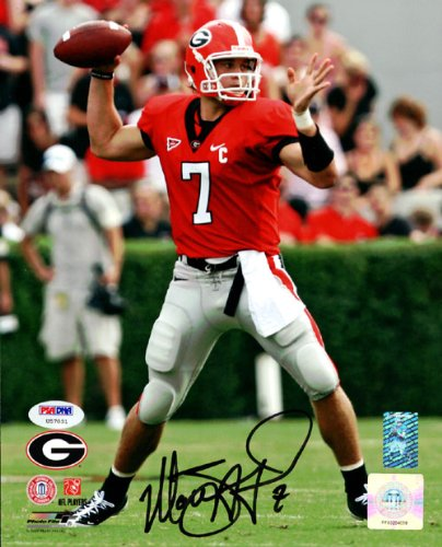 (Matthew Stafford Autographed 8x10 Photo Georgia Bulldogs PSA/DNA )