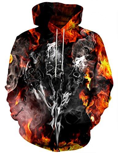 Yasswete Unisex Hooded Sweatshirts Pullover Hoodies Cool Outwear Medium -