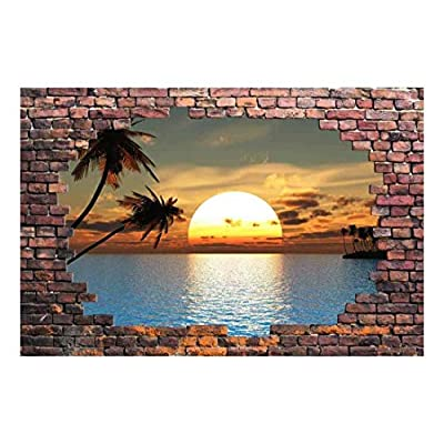 Large Wall Mural Sunset at Tropical Sea Viewed...