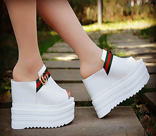 de de alto Comodas tacon zapatillas cm Blanco 13 de XiaoGao xRIOqwx