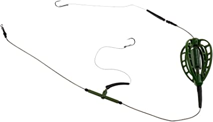 Carp Fishing Inline Method Feeder Cage Hook Rig Set Coarse Fishing Tackles