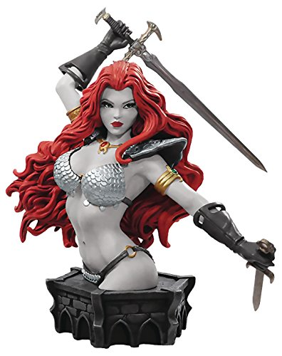 Dynamite Women of Red Sonja by Arthur Adams (Black & White Version) Resin Collector's (Sonja White Box)