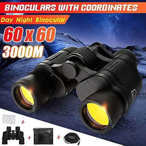 SEN 60X Jumelles Militaire Monoculaire HD Camping Nuit Vision 3000M Coordonne Noir
