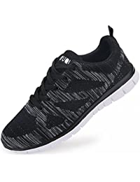 Men's Lightweight Athletic Sneakers Lace-Up Mesh Distance Running Shoes