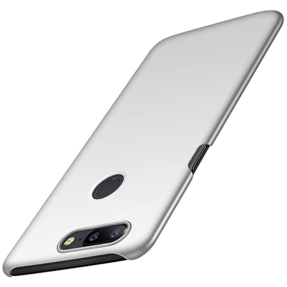 huge selection of 8db00 1eab5 Anccer Compatible for OnePlus 5T Case [Colorful Series] [Ultra-Thin Fit]  Premium Material Slim Cover for OnePlus 5T (Smooth Silver)