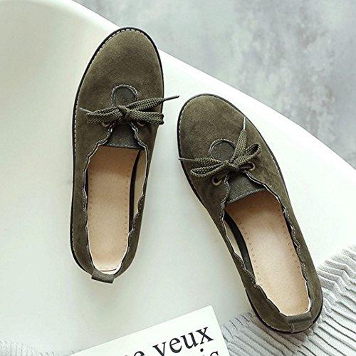 Casual Brogue Green Zanpa Plano Zapatos Mujer REq5xxnF7w