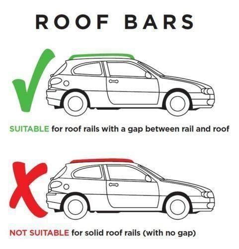 Locking Universal Aluminium Car Roof Bars Cross Rack 1.3M For Raised Rails 90kg
