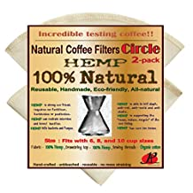 Reusable Coffee Filters for Chemex ,No Harmful Chemical ,All Natural , P&F Circle Shaped Filters by P&F Coffee Filters