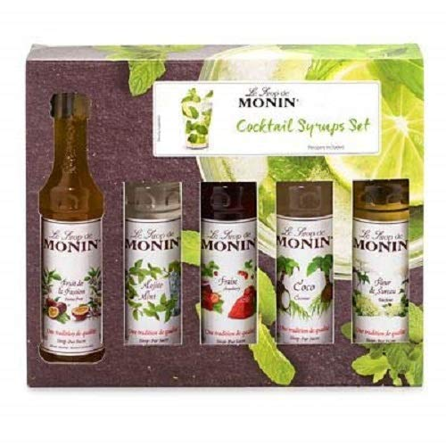 Monin - 5 Flavor Classic Cocktail Collection: Pomegranate, Mojito, Agave Nectar, Mango, and Triple Sec Syrups, Natural Flavors, Great for Classic Happy Hour Cocktails, Vegan, Non-GMO, Gluten-Free (50