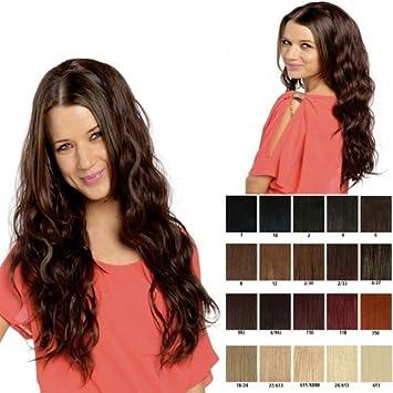 Long beach wave half head wig wavy half fall hairpiece Various colours   Amazon.co.uk  Beauty b6e60672fac8