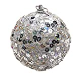 Christmas Tree Decoration Christmas Ball Ornaments Decoration Christmas Decorations Tree Balls for Holiday Wedding Party Decoration (8cm in Diameter) (Silver)
