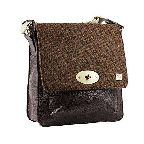 Tweed Messenger Bag Rust