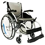 Karman Healthcare S-105 Ergonomic Ultra Lightweight Manual Wheelchair, Pearl Silver, 18-Inch Seat Width
