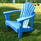 : Shine Co 4516BL 19 x 22 x 22 Inch Sanibel Kids Adirondack Chair - Blue