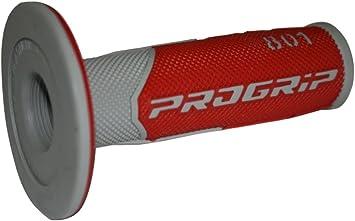 Progrip Motocross 801 Pa080100grro – Puños para bicicleta, color rojo/gris: Amazon.es: Coche y moto
