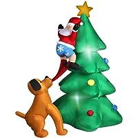Inflatable Christmas Decorations Santa Snowman with LED Light Xmas Party Outdoor Gotcha Santa 1.8m