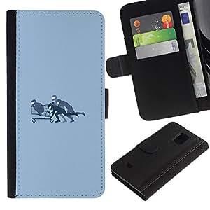 // PHONE CASE GIFT // Moda Estuche Funda de Cuero Billetera Tarjeta de crédito dinero bolsa Cubierta de proteccion Caso Samsung Galaxy S5 Mini, SM-G800 / Shopping Cart Bobby /