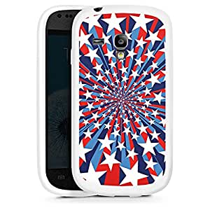 Silicona Carcasa blanco Funda para Samsung Galaxy S3 Mini - Starburst 2