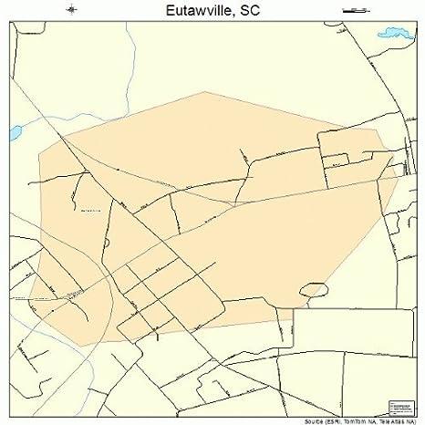 Amazon.com: Large Street & Road Map of Eutawville, South Carolina SC ...