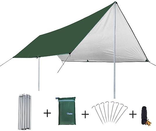 Toldo parasol pérgola grande exterior Canopy camping Verdickte Regenfest-Zelt UV de módulo playa pérgola, Fibra sintética, verde, 3*4m: Amazon.es: Hogar
