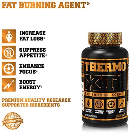 Thermo XT Thermogenic Fat Burner - Premium Weight Loss Supplement, Appetite Suppressant, Energy Booster for Men & Women - 60 Natural Veggie Diet Pills