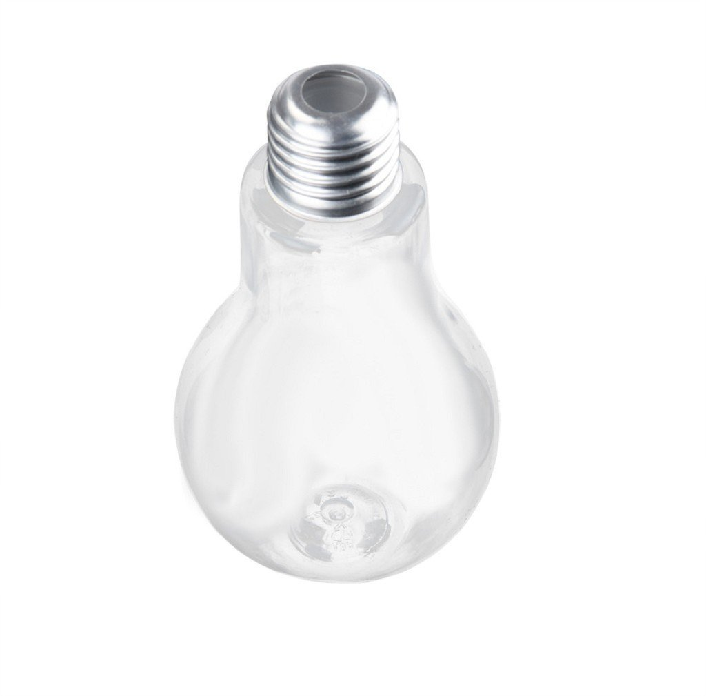 Morecome Summer Water Bottle Cute Milk Juice Light Bulbs Cup Leak-proof (200ML)