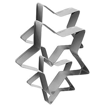 Peiosendor - Molde para galletas de acero inoxidable con forma de metal para hornear, mini
