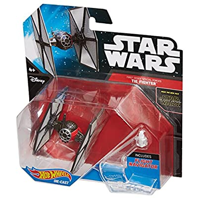 Hot Wheels Star Wars Starship First Order Special Forces TIE Fighter Vehicle: Toys & Games