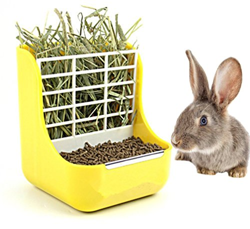 Animal Feeder Bowl 2 In 1 Shelf Plastic Small Pet Rabbit Grass Hay Bowl  Rack Cat Guinea Pigs Bowl: Amazon.in: Pet Supplies