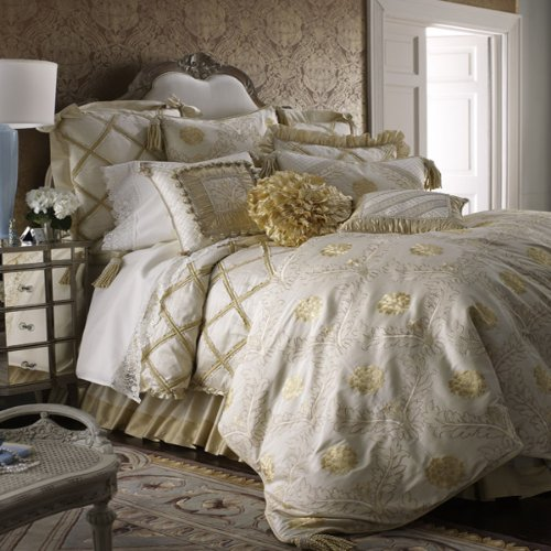 Austin Horn Coronado Tassel Fringed Oblong Toss Pillow, Ivory Gold