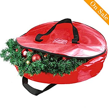christmas wreath storage bag wreath storage container holiday garland or xmas wreath container with handle heavy