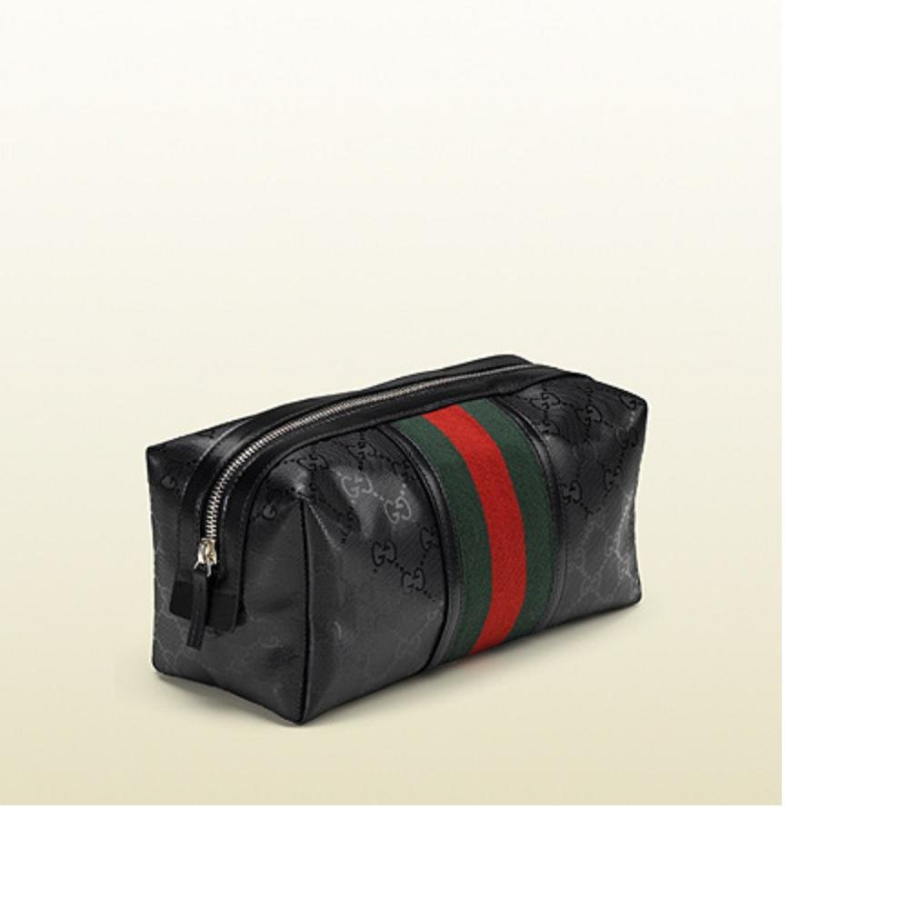 8137a9f41106 Amazon.com : Gucci GG Logo Cosmetic Bag Makeup Bag Black - Authentic :  Makeup Travel Cases And Holders : Beauty