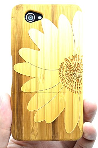 SONY Xperia Z1 Compact Wood Case - Bamboo Big Flower - Premium Quality Natural Wooden Case for your Smartphone and Tablet - by VolksRose