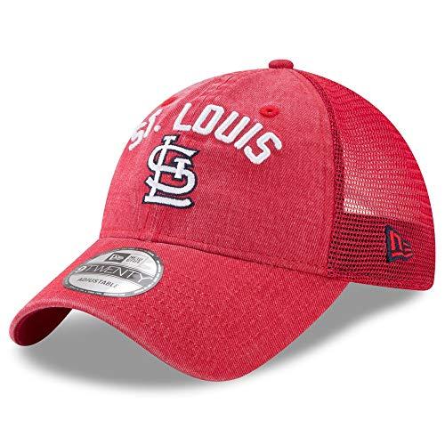 Rugged Trucker Cap - New Era St. Louis Cardinals Rugged Stack 9TWENTY Adjustable Hat/Cap