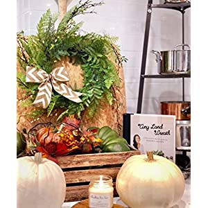 Tiny Land 22 Inches Spring Wreath for Front Door with Knotted Bow, Handcrafted Wicker Rattan Loop Frame | Faux Home Decorative Display | Rustic, Farmhouse Decor 5