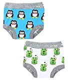 Ez Undeez Toddler Potty Training Pants with Padded Layer, Penguin-Frog