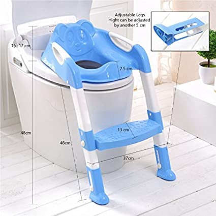 975e1f68a Buy Saving Basket Potty Training Toilet Ladder Seat Steps For Toddler Child  (Blue) Online at Low Prices in India - Amazon.in