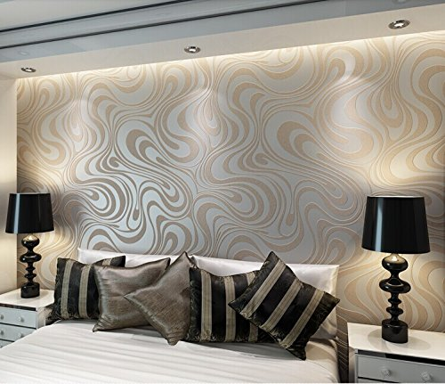 Qihang modern luxury abstract curve 3d wallpaper roll mural papel de parede flocking for striped cream whitesilver color qihang wallpaper 0 7m8 4m5 88㎡
