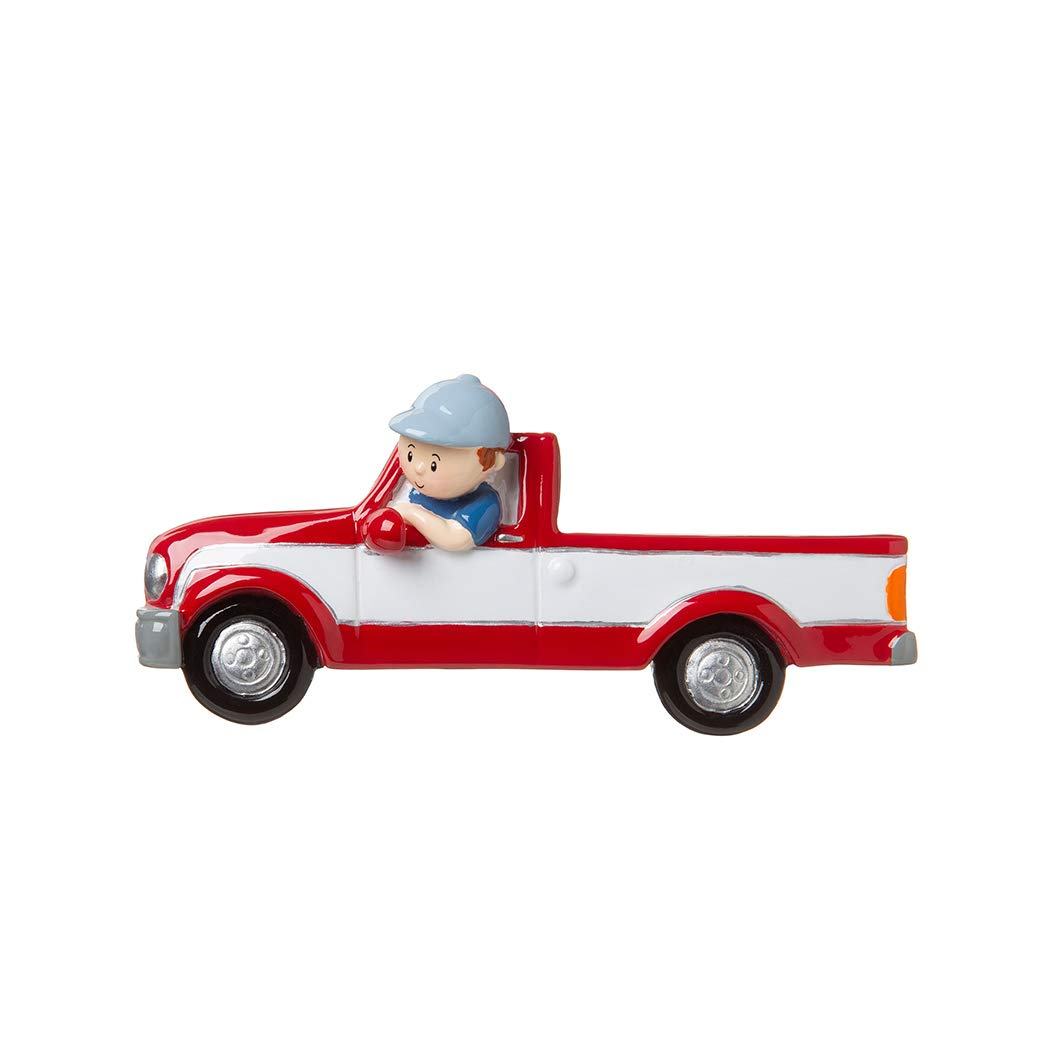Amazon Com Personalized Man In Red Pickup Truck Christmas Tree