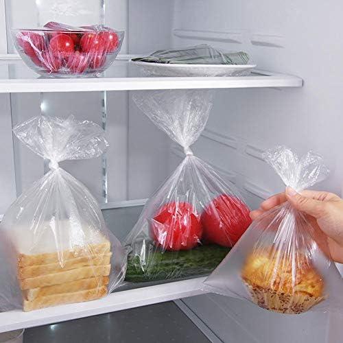 3 Rolls Plastic Bags Disposable Food Storage - 3 Size - 240pcs Bags