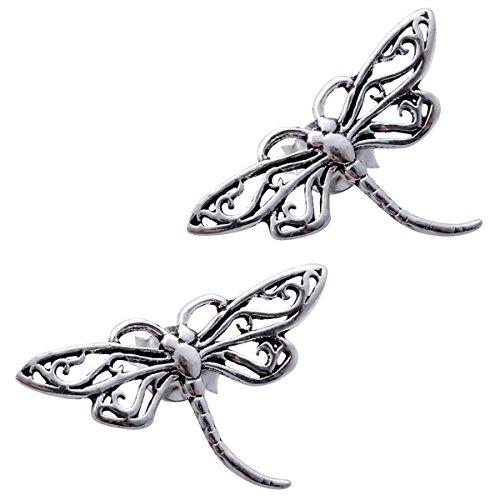 lver Women's Dragonfly Stud Earrings (Dragonfly Stud Earrings)