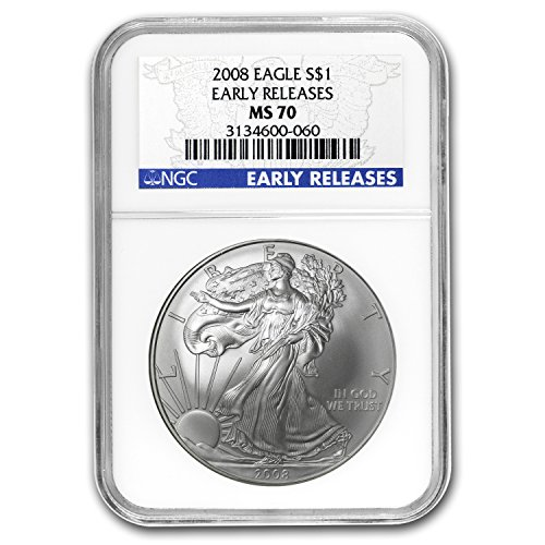 2008 Silver American Eagle MS-70 NGC (Early Releases) Silver MS-70 NGC