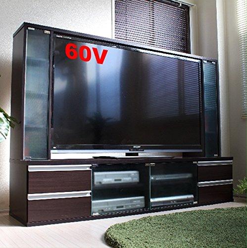 テレビ台 60インチ対応 大型テレビ台 60型 ゲート型 AVボード ダークブラウン TVボード TCP301-DBR J-Supply B079PKBGW7 Parent