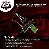 AC Blower Motor Resistor Kit With Harness - Replaces # 89019088, 973-405, 15-81086, 22807123 - Chevy Silverado, Tahoe, Suburban, Avalanche, GMC Sierra, Yukon, Cadillac Escalade - HVAC Fan Blower Motor