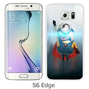 Hot Sale And Popular Samsung Galaxy S6 Edge Case Designed With Funny Minion Superman White Samsung S6 Edge Phone Case
