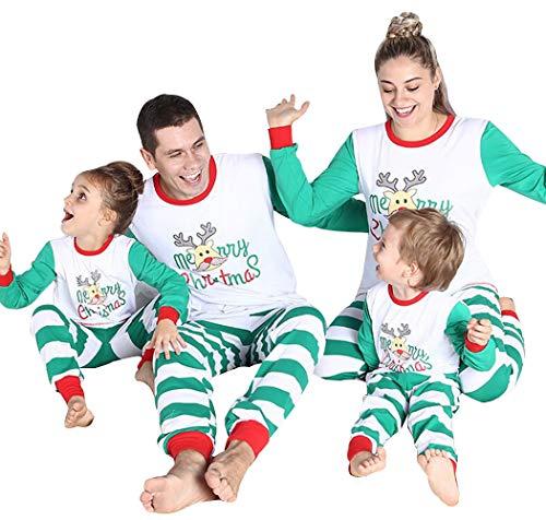 Xmas Family Matching Christmas Pajamas PJs Sets Mom Dad Children Sleepwear Kids Adult Nightwear (Kids, 3-4 -