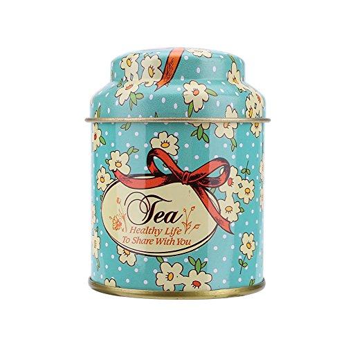 kicode Colorful latas Ronda Retro Candy Caja Té latas contenedor Tinplate Caja de Regalo para aperitivo Azúcar Candy Café,...